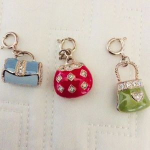 Sterling and enamel purse charms